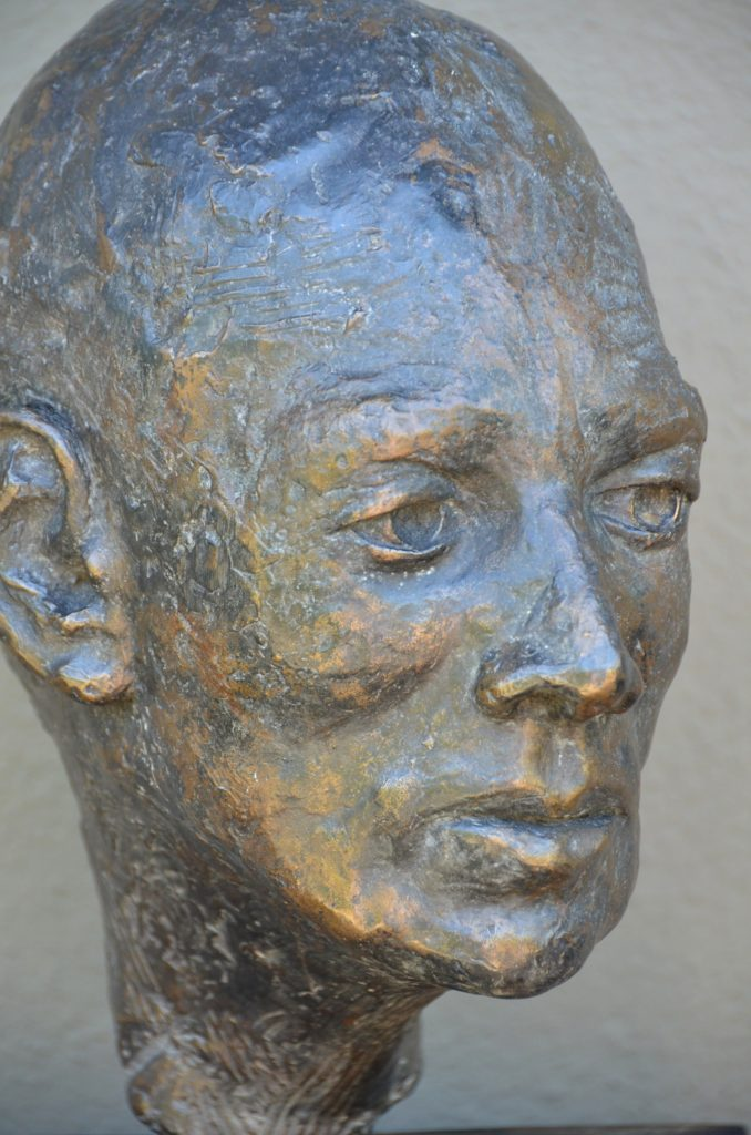 E d m o n d  (detail)   2015 cast bronze, patina, wood base   (18 x 12 x 14 inch)